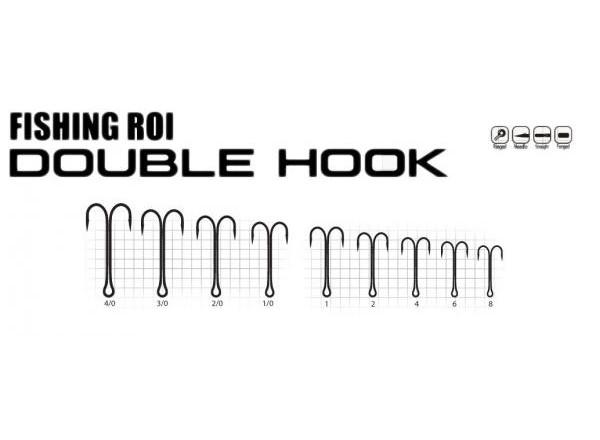Крючки двойники Double Hook №2 217-21-002 Fishing ROI