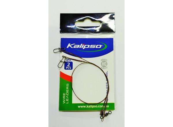 Поводки вольфрам 7*7 10кг 25см (2шт) 4206072 Kalipso