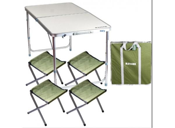 Стол складной + 4 стулки в чехле ST-401 RA 1106