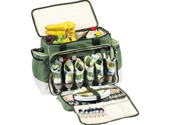 Термосумка для пикника с посудой на 6 персон НВ6-520