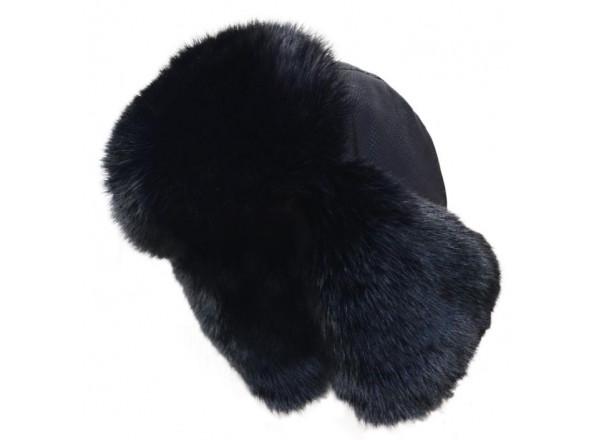 Шапка ушанка на меху черная 9870 Fishing ROI 57-59(р)