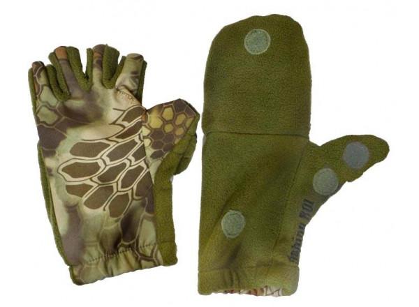 Перчатки варежки Рептилия олива L 18-04-01 Fishing ROI